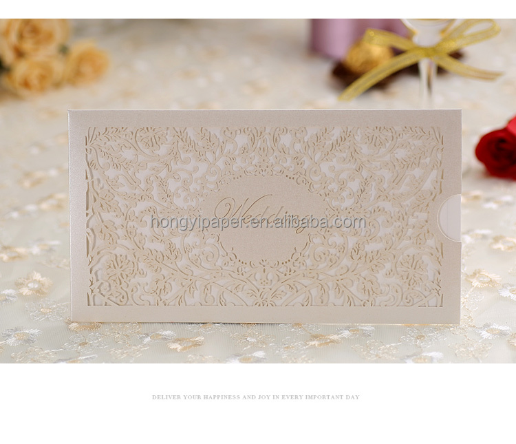 Free samples factory price 2015 wedding cards laser cut models, wedding cards luxurious CW0105