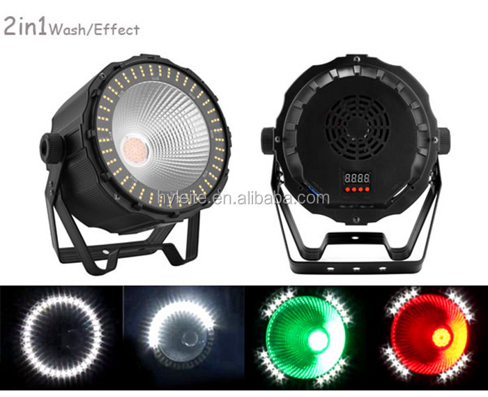 led dmx strobe par can light price with circle effect for wedding band events