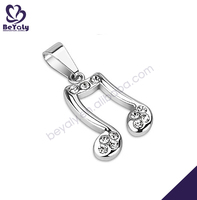 New fashion stainless steel music symbol purse charm