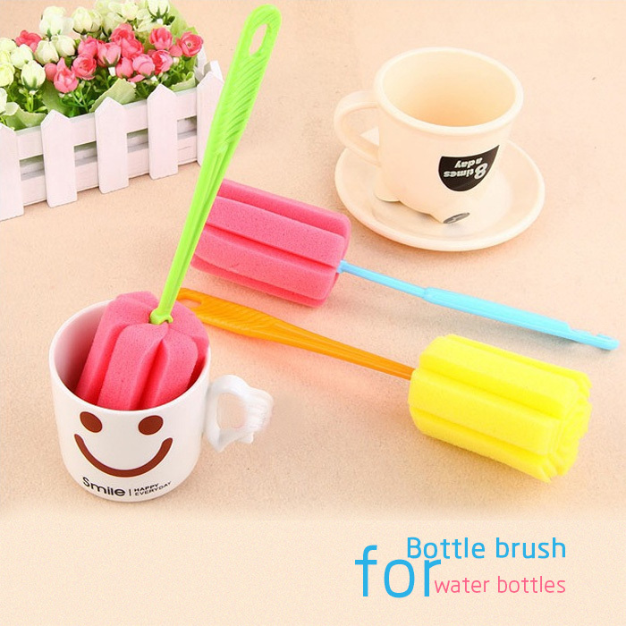 Mug/water bottle/tumblers sponge cleaning brush with long handle