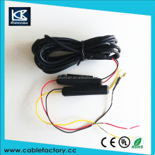 china dc power cable with inline fuse holder battery cable with cross plug for vehicle traveling data recorder