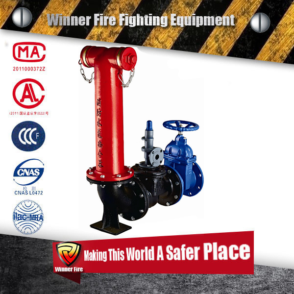 Fire Fighting Pump Connection overground for fire fighting man with instuction