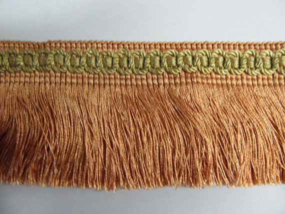 Decorative chainette fringe for curtain