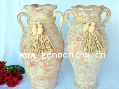 Fashion flower outdoor vase for gardening decoration terracotta flower vase