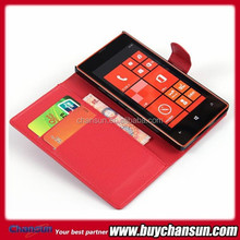 China supplier for Nokia lumia 520 pu leather flip case