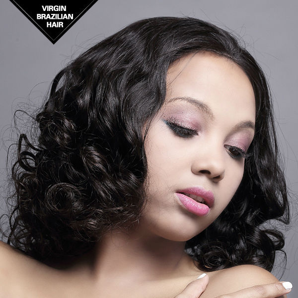 VV HAIR 2015 Top Beauty 100% Hand-tied Beyonce Celebrity Style Brazilian Human Hair Full Lace Wig