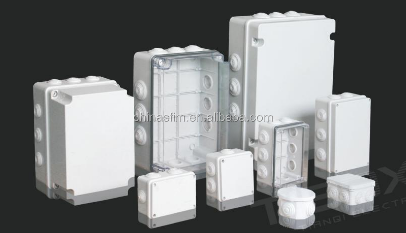 ABS polycarbonate plastic newest electrical enclosure junction box with Knock out and Rubber