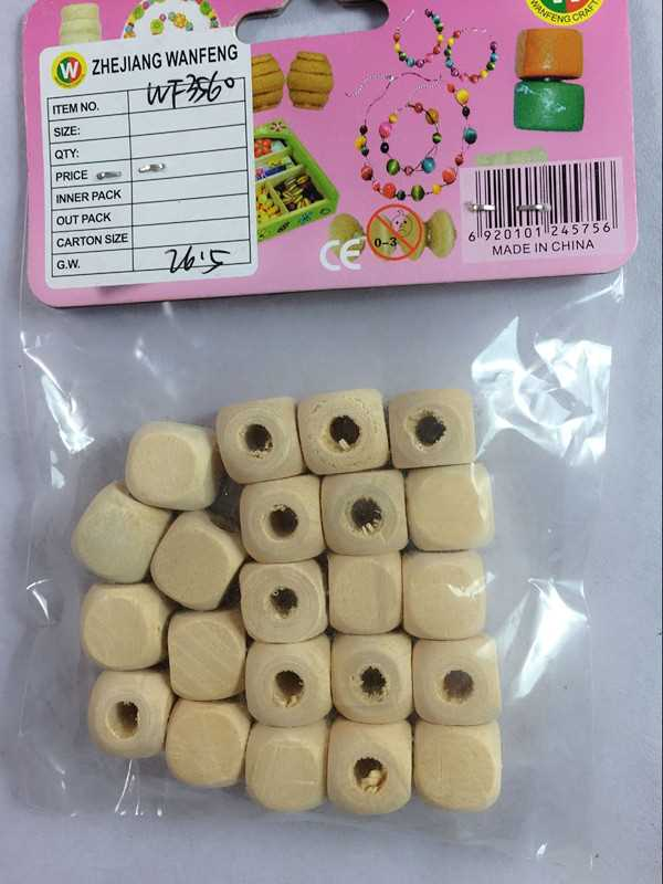 Wanfeng lower price wooden beads for wooden clothes brush