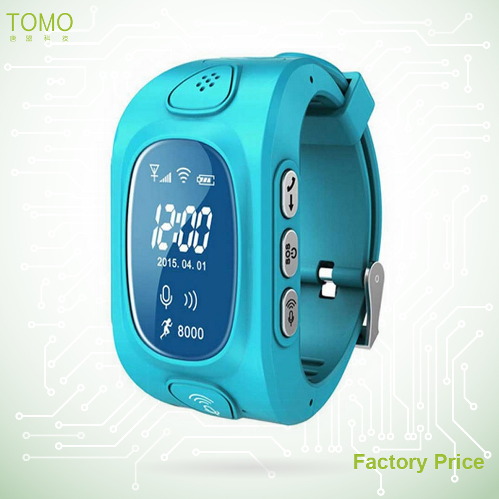 GPS watch phone with sos button small size mobile phone