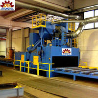 STEEL PLATE SHOT BLASTING MACHINE FOR CLEANING OF STEEL SURFACE WITH HIGH PRODUCTION ENERGY SAVING CE AND ISO9001 CERTIFIED