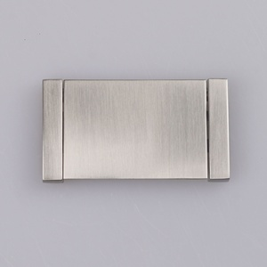 High Quality Hafele Contemporary Recessed Flush Metal Pull Handle in Brush Nickel