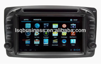 LSQ Star 2 Din Car Dvd Gps For Mercedes Clk-c208 W208(1996-2008) With Android 4.0 Os Optional+ Optical Fiber For Dropship