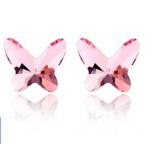 Crystal earrings butterfly kisses han edition fashion simple earrings jewelry pn8175