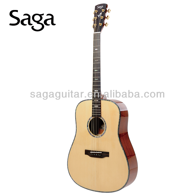 unique acoustic guitars made by saga guitar factory senior technician,SL8