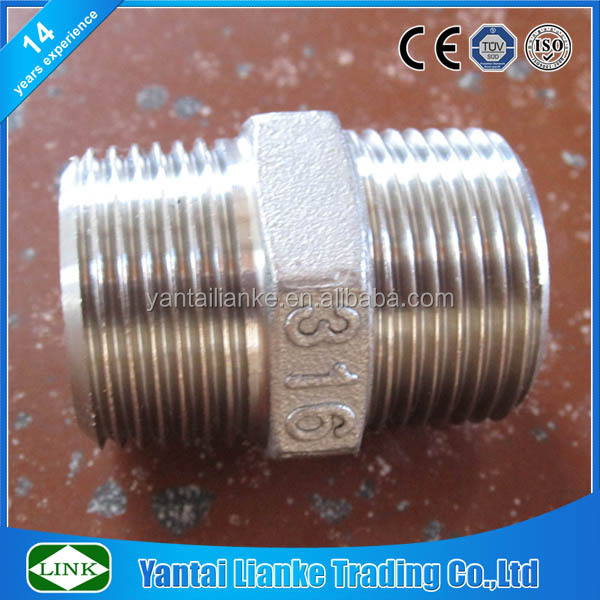 150lbs investment casting stainless steel npt to bsp nipple