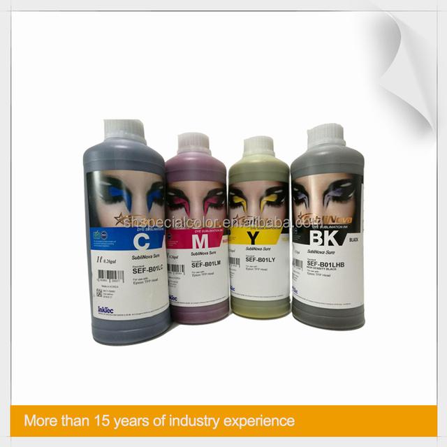 Korean InkTec SubNova Sure Sublimation Ink For Skis, Snowboards, Skateboards and Surfboards