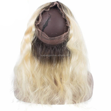 wholesale wet and wavy brazilian hair blonde lace front closures dark root blonde hair bundles with 360 lace frontal closure