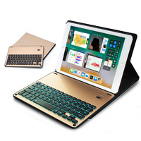 LED Backlight Folding Keyboard with Leather Case For Ipad air 2 / pro 9.7