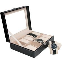 cheap wooden watch case wooden watch package case nice leather cylinder case