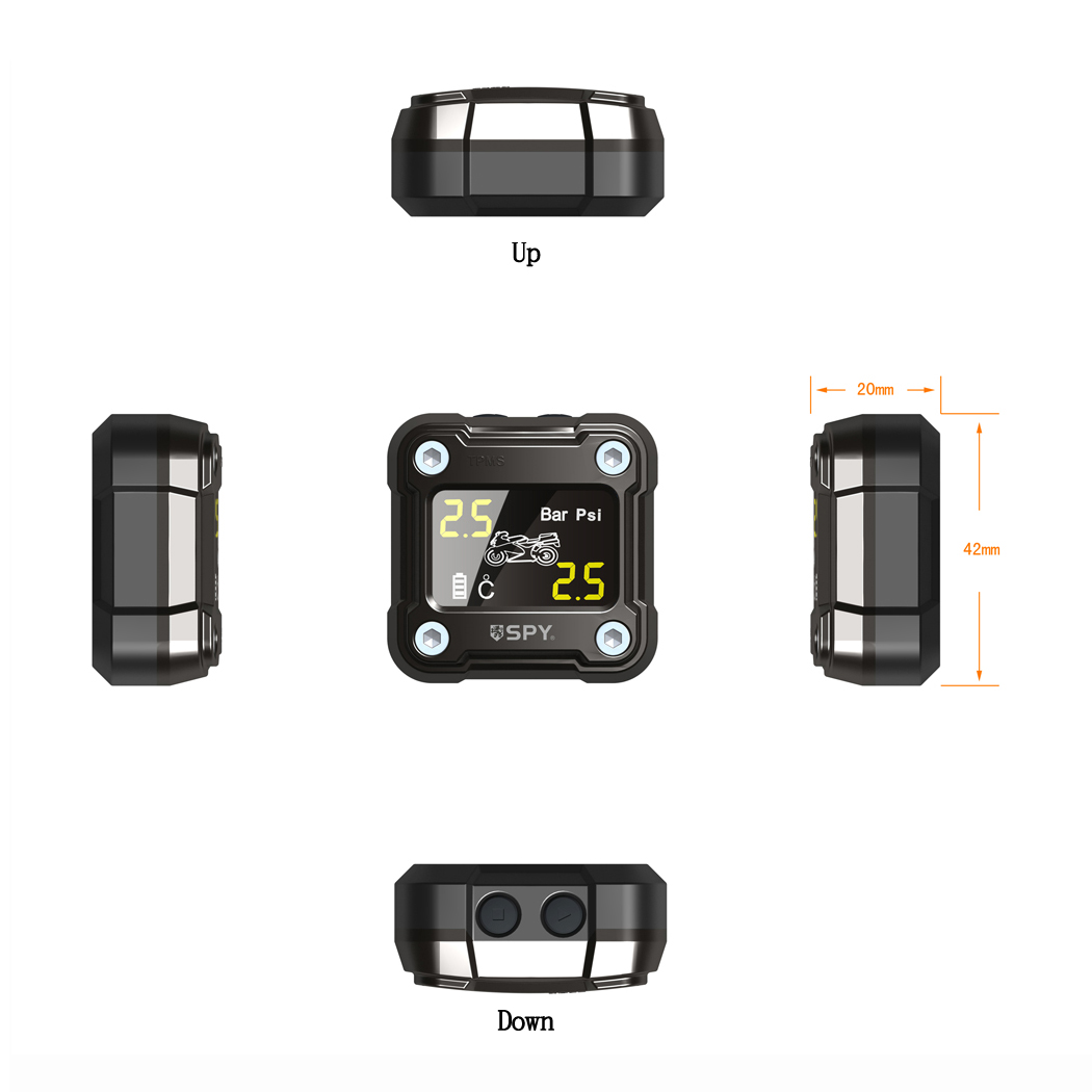 Guangdong SPY tire pressure monitoring system external sensor Motorcycle waterproof TPMS