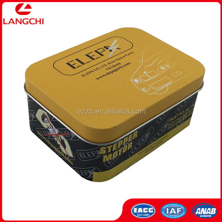 Tool Good Quality Cheap Printing Metal Tin Auto Parts Packing Box