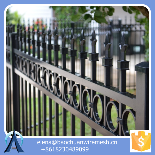 metal post bracket fence / Iron Square Tube Fence Panels