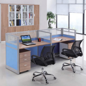 modern classic mdf 4 people office desk fashon factory