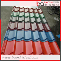 Baoshi Steel corrugated decorative colored metal roofing tile