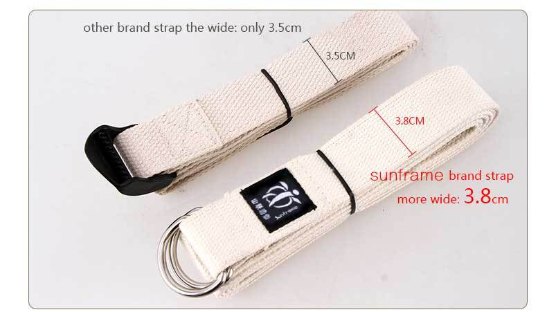 Cotton material yoga strap exercise Yoga Strap with yoga tool yoga belt strap manufacturer