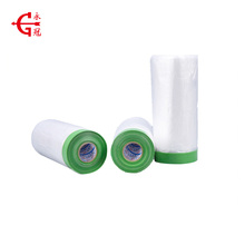Wholesale auto paint yellow pretaped cloth taped masking film