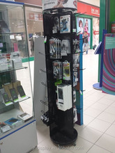display stand for mobile accessories/rotating nail polish display rack/solar power rotating display stand