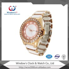 king quartz japan movement stainless steel watch with date window for women