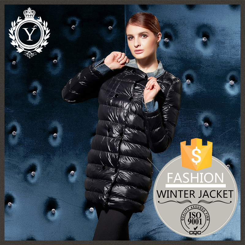 Korea famous brand clothes waterproof insulated women long stylish wholesale winter coats
