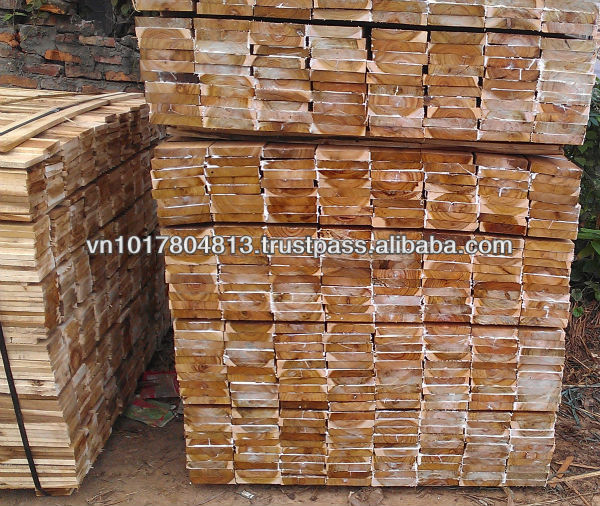 Acacia sawn timber S2S best quality