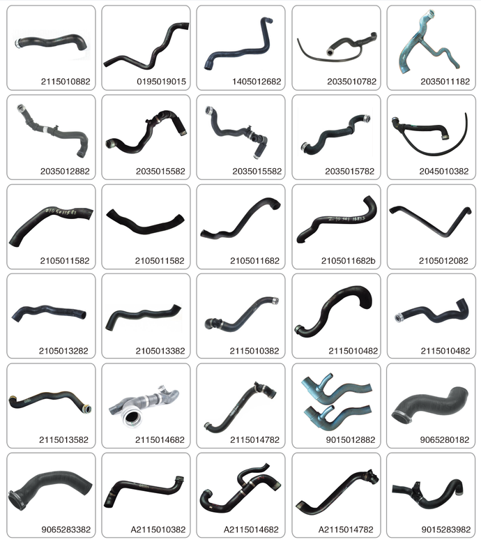 New customized flexible elbow epdm rubber radiator hose 2055014784 for MB C-CLASS W205 2.1 d 120 Kw