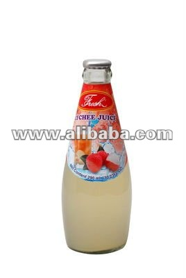 Lychee Juice in glass bottle 290 ml.