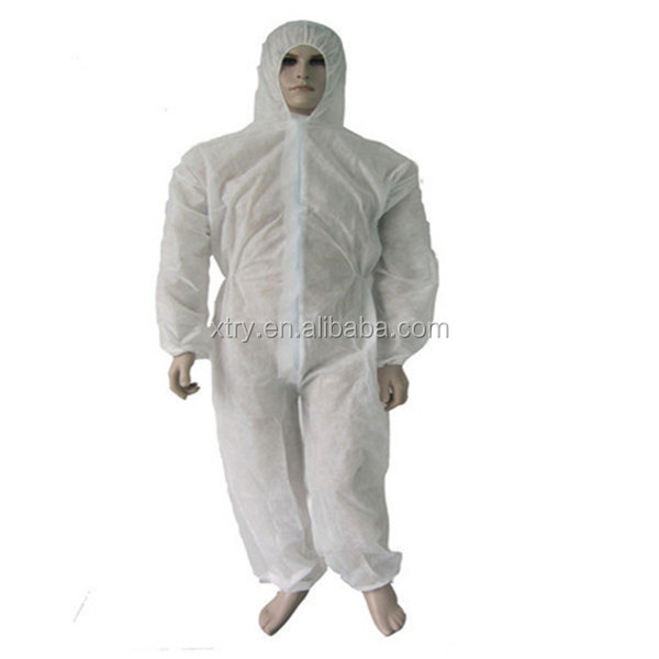 Medical Polypropylene Disposable Coverall with Attached Hood 35g Large