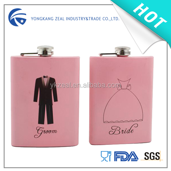 zeal painting stainless steel hip flask HF5009