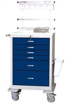 medical cart -BETTER - Traditional 6 drawer Anesthesia Cart (Sample colors shown)