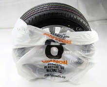 PE disposable plastic car tyre/wheel cover/bag