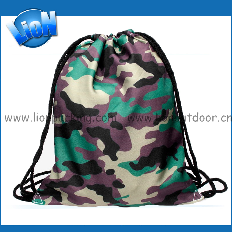 Drawstring bags for men and women 2016 new design Polyester backpack