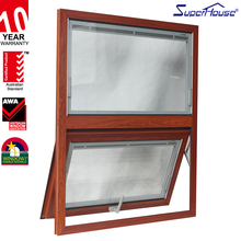 china supplier inward opening aluminium awning window with blinds