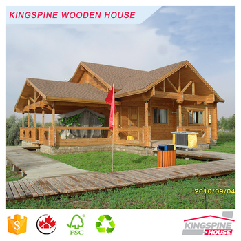 Popular Prefab Solid Wooden Log House High Quality Cottage Made in China KPL-030