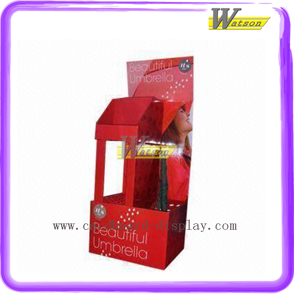 Promotion Compartment Paper Umbrella Display Stand