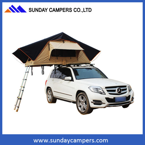 PVC flooing Inflatable family camping car tent