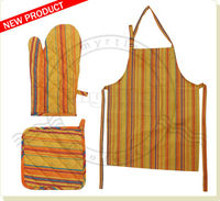 Cotton Kitchen Apron With Whole Set for Household , Kitchen , Cooking , Bakery , Chef , Men , Women and Industrial Use