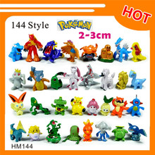 Wholesale 2016 hot selling toy 144 styles of small pokemon figure 2-3cm
