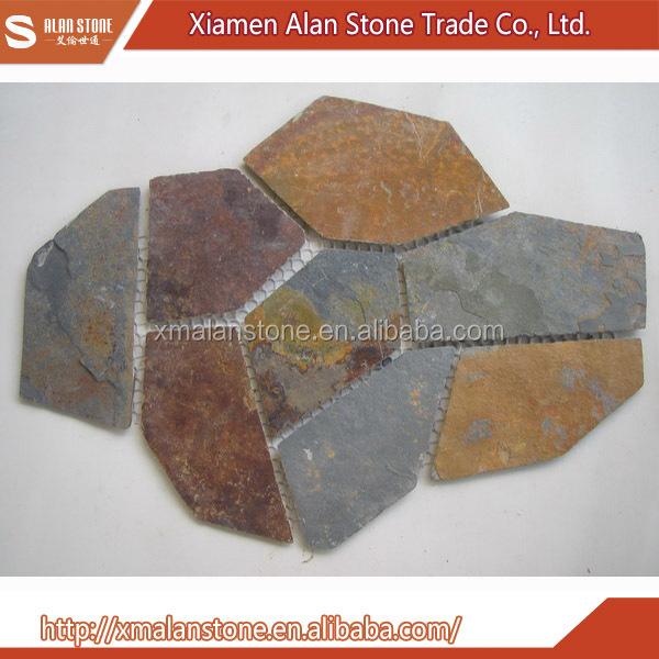 China flagstone mat mesh of slate culture stone for pavers