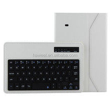 Bluetooth 3.0 ABS Hard Key Keyboard and Crazy Horse Texture Leather Case with Holder for Samsung Galaxy Tab 4 8.0 / T330 (White)
