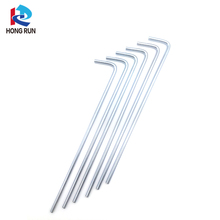 8 inch steel tent pegs